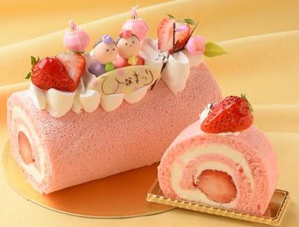 手作りひな祭りケーキ